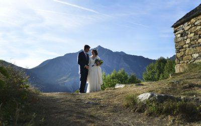 Y… la naturaleza hizo el resto. Una boda en el Pirineo